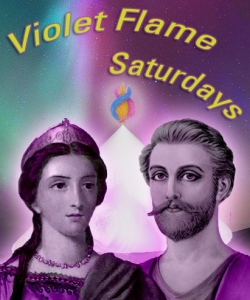 Violet Flame Saturday's Live every Saturday at 10AM Pacific Time, 1PM Eastern, 6PM London England